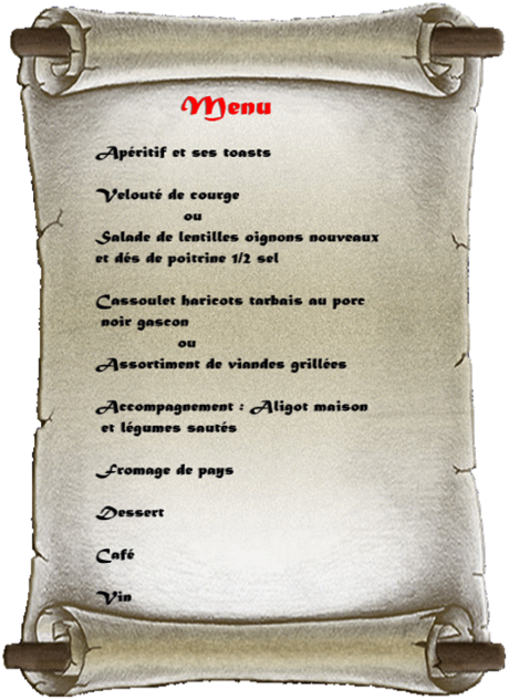 Menu mas de monille